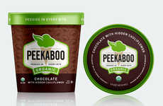 Vegetable-Infused Ice Creams - Peekaboo Ice Cream Has a Hidden Serving of Veggies in Every Pint
