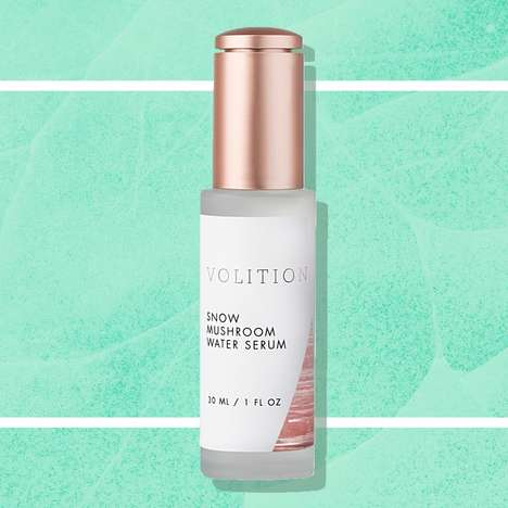 Mushroom-Based Skin Serums - Volition Beauty Has Released a Snow Mushroom Water Serum