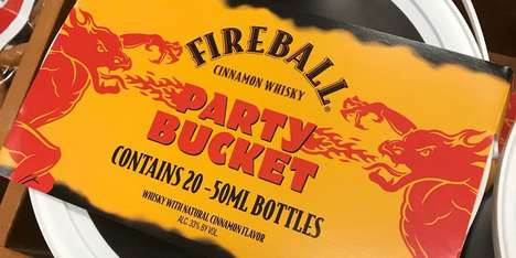 Party-Sized Whiskey Buckets - The Fireball Party Bucket Contains Enough Whiskey for Everyone