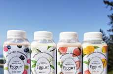 Probiotic Egg Drinks - 'Eggurt' is an Alternative to Drinkable Yogurt That's Free from Dairy