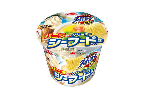 Creamy Seafood Instant Noodles