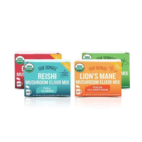 Caffeinated Mushroom Elixirs - Four Sigmatic's Innovative Blends Offer Great Health Benefits