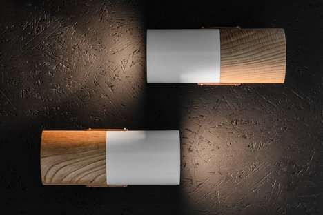 Stylish Mixed Material Sconces