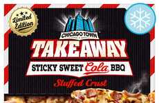 Cola BBQ Frozen Pizzas - The Chicago Town Sticky Sweet Cola BBQ Pizza is Available in the UK