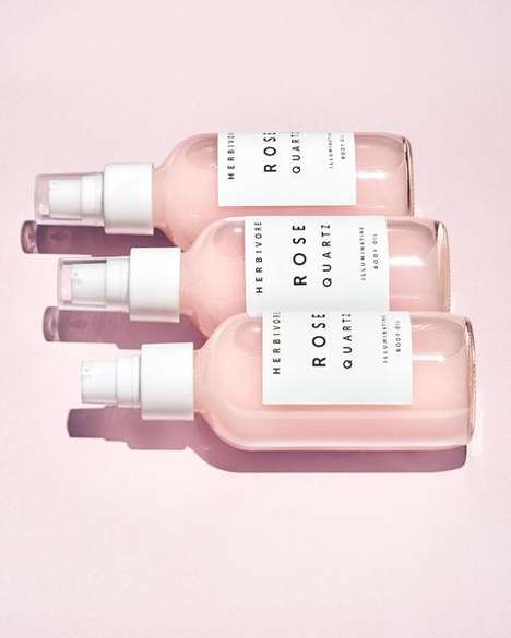 Rose Quartz Oils - The New Herbivore Body Oil is a Solution for Dry Skin