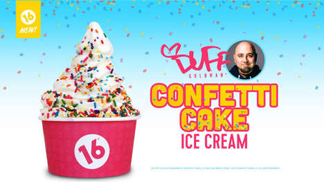 Celebrity-Inspired Ice Creams - 16 Handles Now Offers a Duff's Confetti Cake Ice Cream Flavor