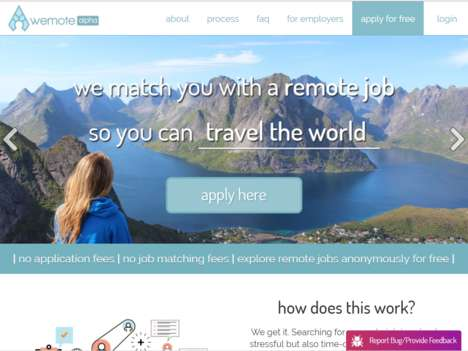 Digital Nomad Job Platforms - 'Wemote' Helps Remote Workers Find the Best Job Opportunities