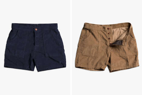 Contemporary Surf Shorts - Birdwell Beach Britches' New Corduroy Shorts are Inspired by 70s Style
