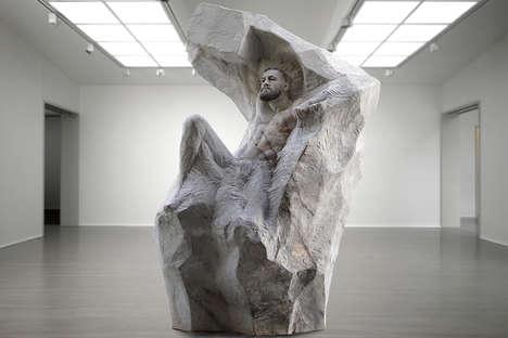 Lifelike Fighter Sculptures