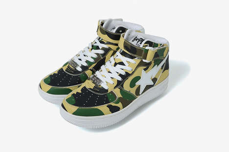 Bold Camouflage Mid-Tops