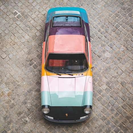 Reimagined Vintage Stripe Cars