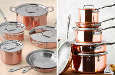 Stunning Rose Gold Cookware - All-Clad's C4 Copper Collection is Durable and Stylish for Any Kitchen