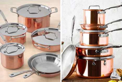 Stunning Rose Gold Cookware