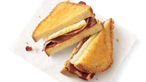 Smokey Bacon Breakfast Sandwiches