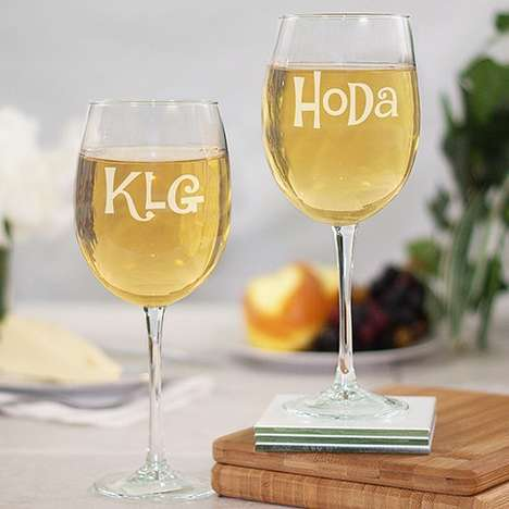 Television Cohost Wine Glasses