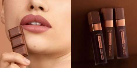 Chocolate-Scented Lipstick Lines - L'Oreal's Chocolate-Scented Lippies Arrive in 12 Unique Hues