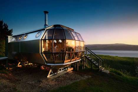 Spaceship-Inspired Vacation Rentals - The Airship 002 is a Unique Travel Opportunity in Scotland