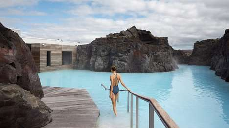 Health-Focused Lagoon Retreats - Basalt Architects' Design is Nestled Between Lava Formations