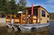 High-End Tiny House Boats