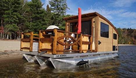 High-End Tiny House Boats