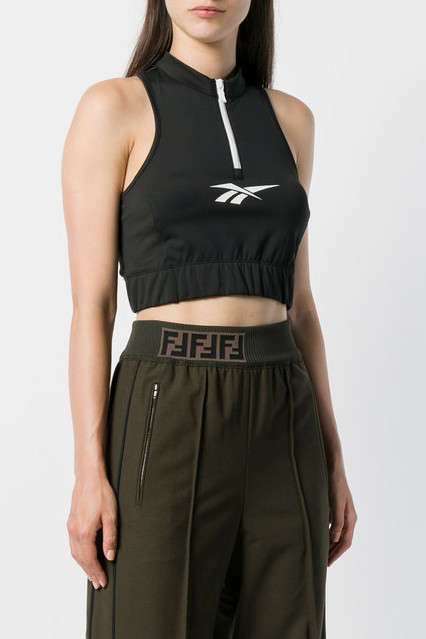 Sporty Logo-Heavy Tanks - Reebok's Sporty Cropped Tank is Comfortable and Stylish