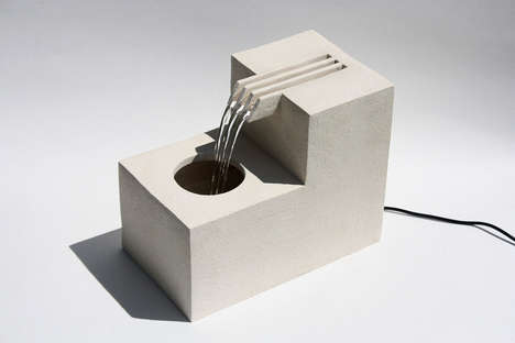 Ceramic Comb-Resembling Fountains