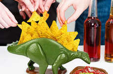 Prehistoric Snack Bowls - The NACHOsaurus Bowl Makes Eating Fun and Educational for the Whole Family