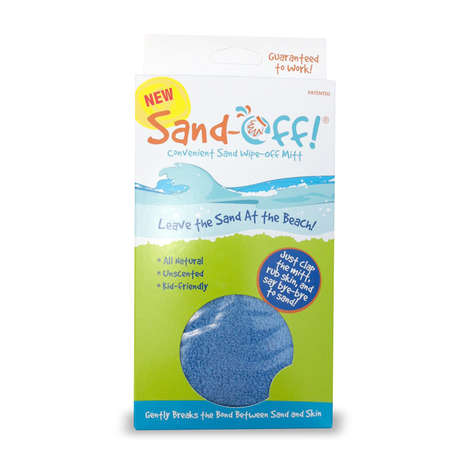 Handy Sand-Removing Gloves - The Sand-Off! Mitt is a Useful Beach Tool for Children and Adults
