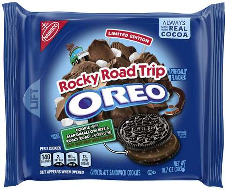 Marshmallow Dessert Sandwich Cookies - The New Rocky Road Trip Oreos Channel an Iconic Treat