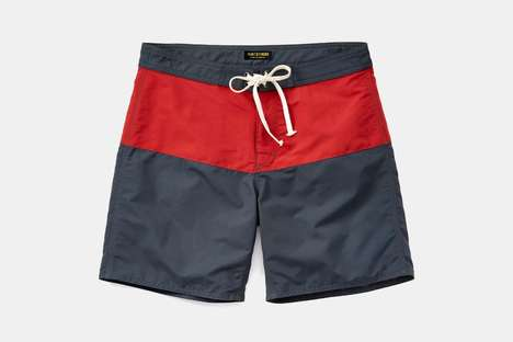 Quick-Drying Board Shorts - Flint and Tinder's New Vintage Board Shorts Mix Style with Durability