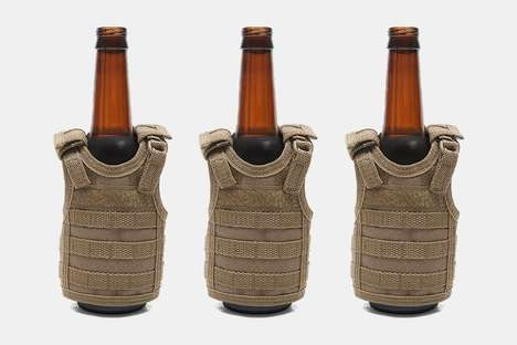 Army-Inspired Beer Holders - Frontier's Tactical Vest Beer Koozie is an Original Summer Accessory