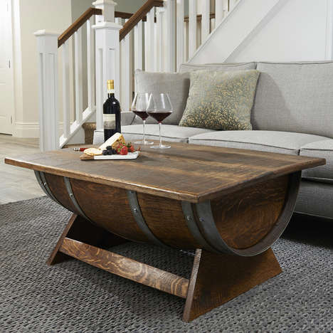 Vintage Barrel Coffee Tables