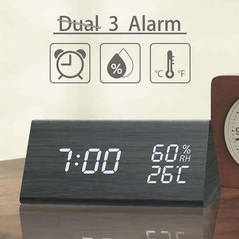 Temperature-Sensing Alarm Clocks