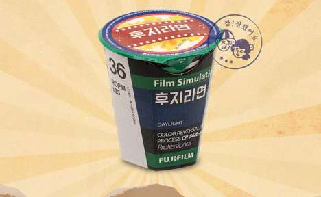 Film Canister-Themed Instant Noodles - Fujifilm's Instant Noodles are Available in South Korea