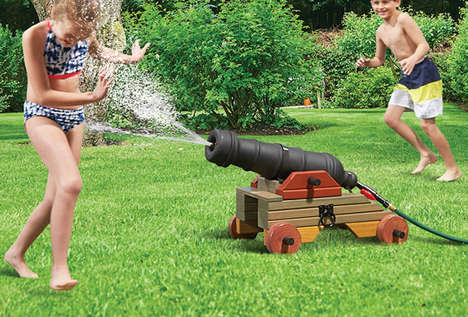 Family Friendly Water Cannons - The Backyard Aquatic Bombard Shoots Water for an Exciting Game