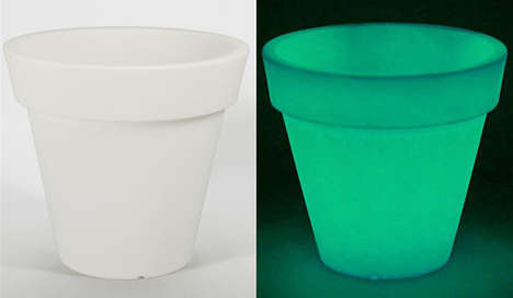 Illuminated Plant Holders - The New Glow in the Dark Planter Urns Provide Enchanting Garden Lighting