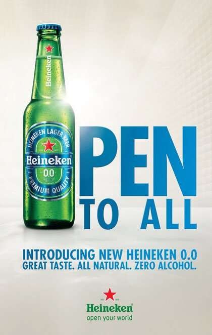 Humorous Drinking-Enablement Ads - Heineken's Now You Can Celebrates Drinking Non-Alcoholic Beer