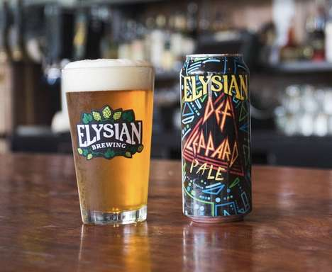Rock Band-Themed Beers - 'Def Leppard Pale' Gives Fans the Change to Win Def Leppard Tour Tickets