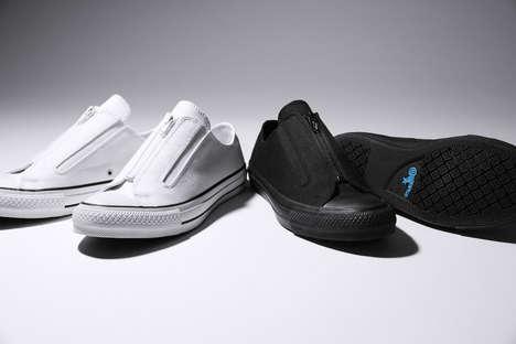 Sleek Zipper-Enclosed Shoes