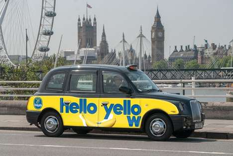Banana-Themed Taxi Campaigns - The Chiquita 'We Are Bananas' Campaign will Give Londoners Free Rides