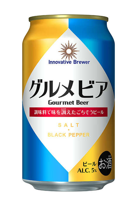 Salted Peppery Beers - Sapporo's 'Gourmet Beer' Boasts a Rock Salt and Black Pepper Flavor