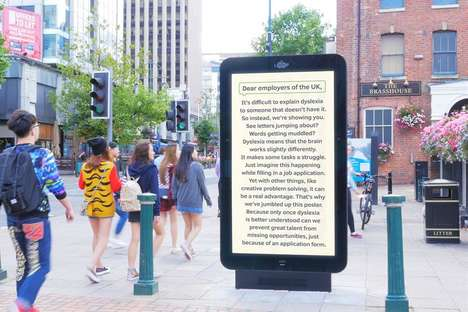 Experiential Dyslexia Ads - This Facial Recognition Ad Intentionally Offers a Challenging Read