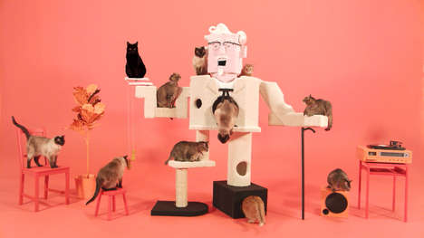 Fast Food-Branded Cat Climbers - KFC's Publicity Stunt is Feline-Friendly and Incredibly Adorable