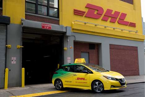 Eco-Friendly Delivery Truck Promotions - DHL is Offering Free Rides in New York City
