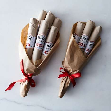 Romantic Salami Bouquets - The Olympia Provisions Salami Bouquet Features Artisanal Cured  Meats