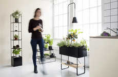 Greenery Integrated Indoor Furniture - The Kekkilä Green Series Furniture Accommodates for Plants