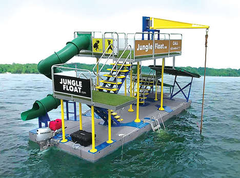 Buoyant Adventure Parks - The Jungle Float is an Exciting and Fully Functional Waterborne Jungle Gym