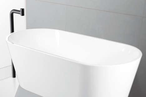 Visually Simplistic Bathroom Faucets