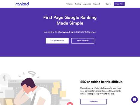 AI-Powered SEO Services - The 'Ranked' Platform Helps with Rank Increases on Search Engines