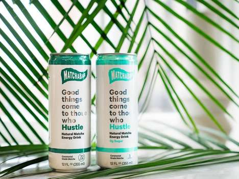 Sparkling Energy Drinks - MatchaBar's 'Hustle' is a Natural Energy Drink Powered by Green Tea